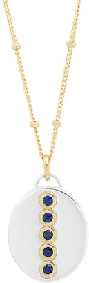 """Elliot Young Fine Jewelry Sterling Silver And14K Gold Oval """"Love Locket"""" With Sapphires"""