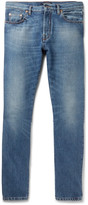 Valentino - Slim-fit Contrast-panelled Denim Jeans