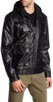 Members Only Faux Leather L-Train Jacket