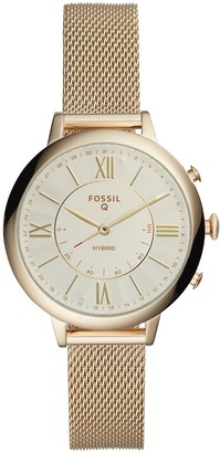 Fossil Womens Analogue Digital Watch with Stainless Steel Strap FTW5020