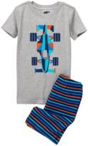 Crazy 8 Race Car 2-Piece Shortie Pajama Set