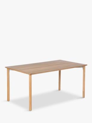 Barlow Tyrie Atom 6-Seat Teak Wood Garden Dining Table, Natural