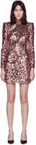 Dolce & Gabbana Pink Spangle Turtleneck Dress