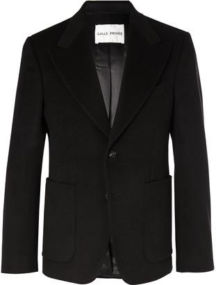 Salle Privée Black Astor Slim-Fit Cashmere Suit Jacket