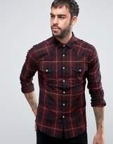 Asos Skinny Western Check Shirt