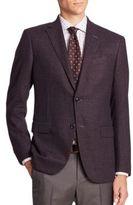 Ermenegildo Zegna Wool-Blend Plaid Jacket