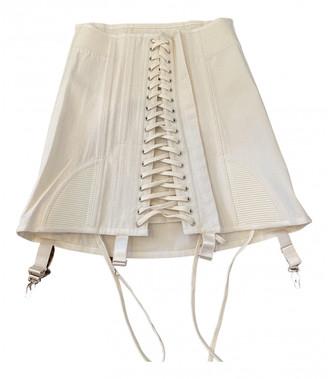 Orseund Iris White Cotton Skirts