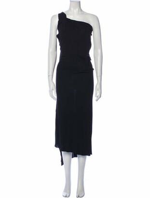 Roland Mouret One-Shoulder Long Dress Black