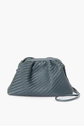 Street Level Slate Woven Frame Bag with Long Handle