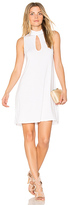 Michael Lauren Atticus Keyhole Tank Dress in White. - size L (also in M,S,XS)