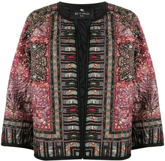 Etro Paisley-Print Fitted Jacket