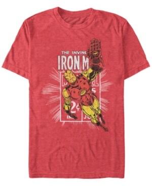 Marvel Men's Comic Collection Classic Iron Man Short Sleeve T-Shirt