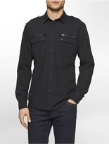 Calvin Klein Slim Fit Modern Military Shirt