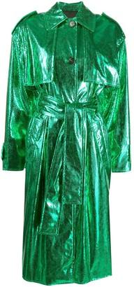 MSGM Metallic Trench Coat