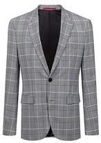 Hugo Boss Extra-slim-fit checked jacket in a seersucker blend