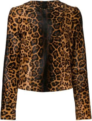 Gucci leopard print bomber jacket