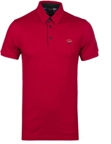 Paul & Shark Deep Red Pique Polo Shirt