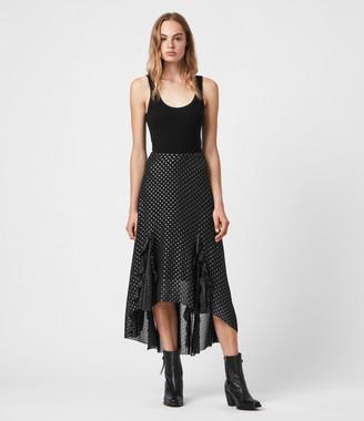 AllSaints Ilia Dot Skirt