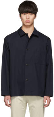 Dries Van Noten Navy Casal Shirt