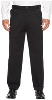 Dockers Comfort Khaki D3 Classic Fit Pleated Pants (Black Metal) Men's Clothing