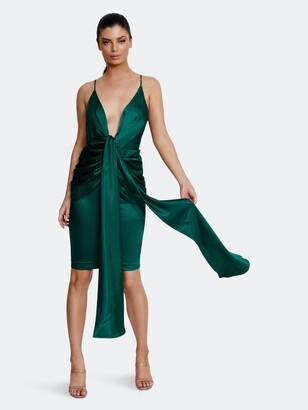 Derma Department Zara Midi Dress | Dark Green