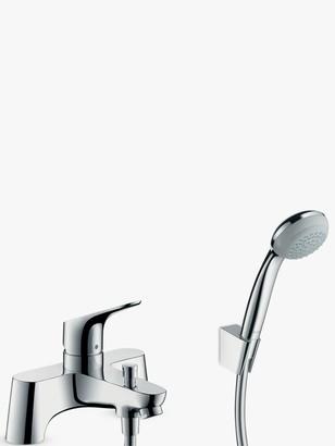 Hansgrohe Focus Single Lever 2 Hole Bathroom Mixer Tap / Crometta 85 Hand Shower, Chrome