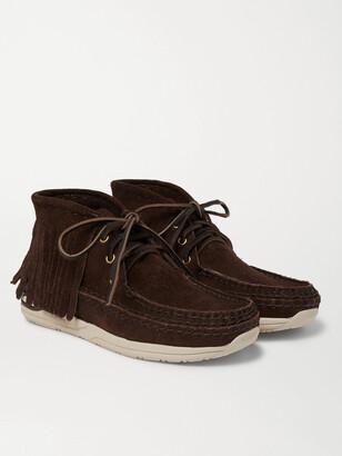 Visvim Voyageur Moc Shaman-Folk Fringed Suede Boots
