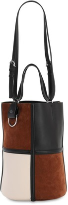 Salvatore Ferragamo Maxi Suede & Leather Bucket Bag