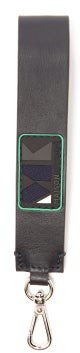 MAISON KITSUNÉ Play Logo-applique Leather Key Ring - Mens - Navy