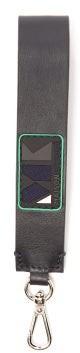 MAISON KITSUNÉ Play Logo-applique Leather Key Ring - Navy