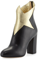 Charlotte Olympia Galactica Star 100mm Bootie, Black/Gold