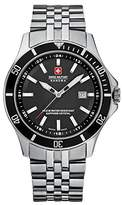 Swiss Military Hanowa Men's Flagship 06-5161-7-04-007 Stainless-Steel Swiss Quartz Watch with Black Dial