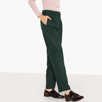 """La Redoute Collections Ultra Loose Fit Cotton Trousers, Length 29"""""""