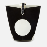 Diane von Furstenberg Women's Mini Steamer Bag - Black/Ivory