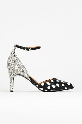 Wallis Monochrome Ankle Strap Court Shoe