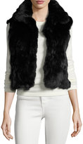 Adrienne Landau Fitted Rabbit Fur Vest, Black