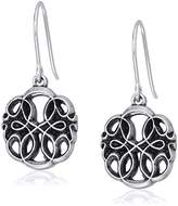Alex and Ani Womens Path of Life Hook Drop Earrings, Rafaelian Silver, Expandable