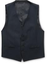 Hugo Boss - Navy Wilson Wool-blend Waistcoat