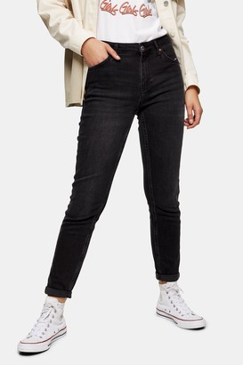 Topshop Womens Washed Black Lucas Jeans - Washed Black