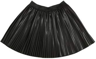 Finger In The Nose Faux Leather Pleated Skirt