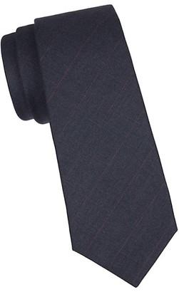 Kiton Pinstripe Silk Tie