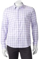 Apt. 9 Men's Slim-Fit Checked Textured Button-Down Shirt