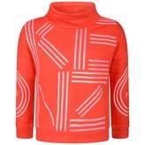 Kenzo KidsGirls Red Logo Print Sweater