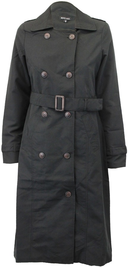Thumbnail for your product : Brave Soul Ladie's Jacket ORWELLMAXI Black UK 10