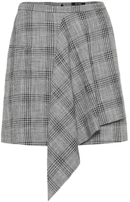 Isabel Marant Doleyli checked cotton and wool skirt