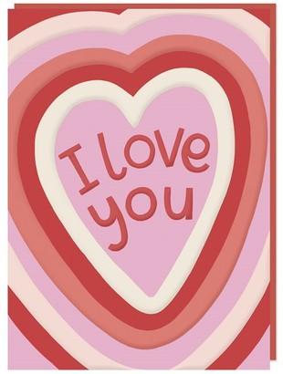 Raspberry Blossom Paper E. Clips Valentine Card I Love You