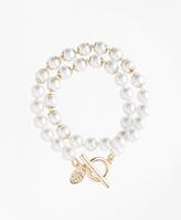 Brooks Brothers Pearl Wrap Bracelet