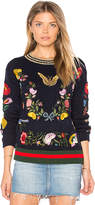 Central Park West Abbot Kinney Butterfly Sweater in Navy. - size M (also in S,XS)