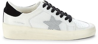 Vintage Havana Mesh Star Patch Platform Sneakers