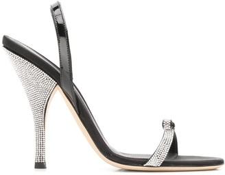 Marco De Vincenzo Bow Embellished Sandals